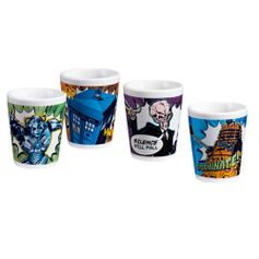 Doctor Who 4 pc. Ceramic Mini Glasses