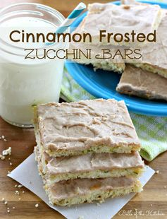 Cinnamon Frosted Zucchini Bars + A Kindle Fire GIVEAWAY! - Belle of the Kitchen