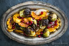 Maple Syrup Roasted Delicata Squash and Brussels Sprouts Recipe | SimplyRecipes.com