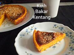 TREAT & TRICK: KUIH BAKAR KENTANG (BAKED POTATO CAKE)