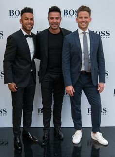 Chad Saaiman, Nicky van der Walt and Jesper Gustafsson wearing BOSS for Cape Town store opening