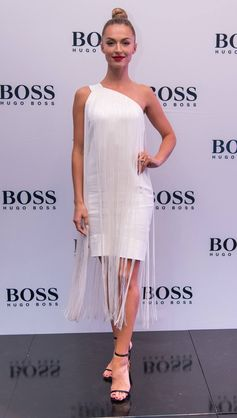 Melinda Bam wearing BOSS for the Cape Town store opening