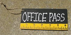 Teacher Gifts Office Pass Black with Ruler by NannieandBCrafts, $1.50