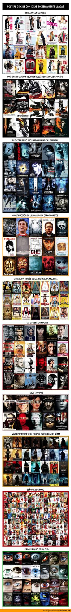 Posters de cine con ideas excesivamente usadas.