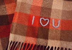 "This gives me the idea to sew ""I love you"" on the back side of a tie as a gift, perhaps..."