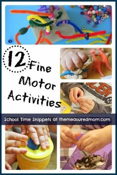12 of our favorite fine motor activities