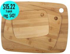 Amazon: 3-pack Core Natural Bamboo Classic Cutting Board Combo = $15.22 + FREE Shipping Options! Regularly $42!