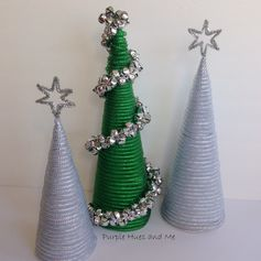 Purple Hues and Me: Dollar Tree Mesh Tube Christmas Trees