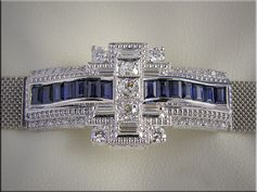 Bracelet section mounted with customer's diamonds and baguette diamonds