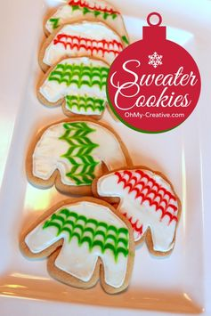 Ugly Christmas Sweater Party Cookies  |  OhMy-Creative.com