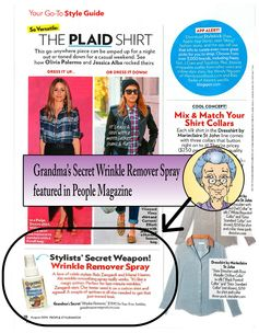 Grandma's Secret Wrinkle Remover Featured in People StyleWatch Magazine!  It Really works!