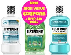 Listerine: 3 New High Value Coupons + Rite Aid Deal!