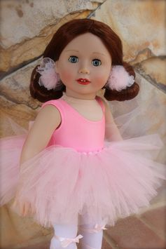 "Our 18"" Doll, Lyric wearing a ballet recital outfit from www.harmonyclubdolls.com"