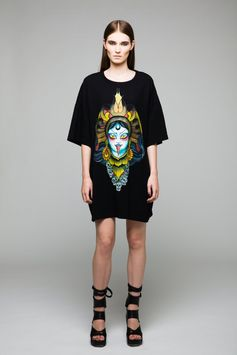 Kali Maxi Tee BLACKBLESSED  @Black Blessed #black #white #fashion #minimal #basic #elegant #designer #urban #urbanchic #dresses #pants #tshirt #top #leggings #white #simple #simplicity #tee #kali