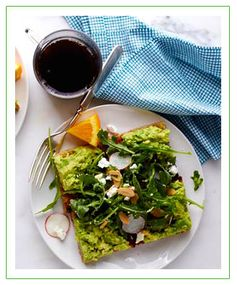 Salad-Topped Avocado Toast