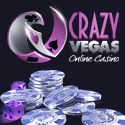 Crazy Vegas Online Casino welcome deposit offer of $/€/£500 Free on your first 3