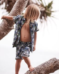 Safari kid! Printed separates make for the perfect tree-climbing kit, as demonstrated by Captain in our new #StellaKids #DoubleAct.