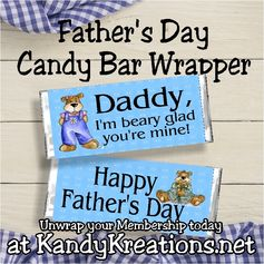 Just in time for Father's day, week 24's candy bar wrapper is perfect for your little one to give to Dad as a great father's day gift.