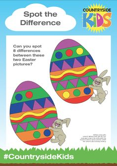 Easter Activity Sheets. Rainy day or just need a bit of down time, can you spot 8 differences between these two Easter pictures?