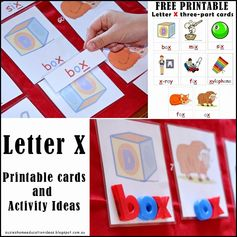 Letter X - Printable Cards and Activity Ideas