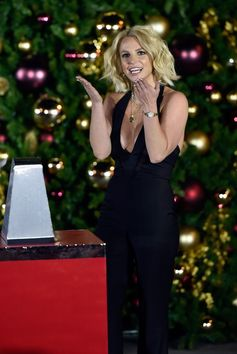 Britney Spears hosts a Christmas Tree Lighting Ceremony at the LINQ Promenade.