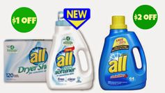 all:  2 New Laundry Product Coupons!