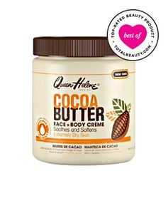 """No. 3: Queen Helene Cocoa Butter Creme, $5.99 TotalBeauty.com average member rating: 8.5*   Why it's great: Reviewers call this """"thick and creamy"""" moisturizer a """"lifesaver."""" One reviewer says that it has """"faded discoloration"""" on her legs and """"stretch marks"""" on her thighs, and another claims that she """"noticed a difference [in her stretch marks]"""" after a week of using this product."""