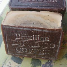 #Coffee #Soap Large Bar of Coffee Soap Limited Edition Brazilian Coffee Soap #Pin Coffee Soap