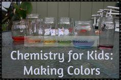 Color Chemistry activity  #homeschoolactivities #sciencefortoddlers