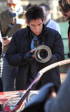 Ben Stiller performs on the set of 'Zoolander 2.'