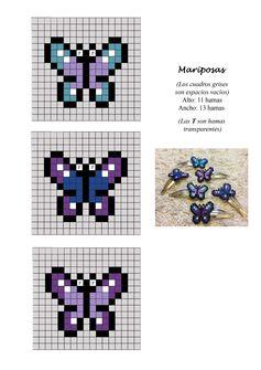 Mariposas butterflies hama beads pattern