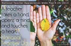 Celebrate Teacher Appreciation Week May 4-10th, 2014 and National Teacher Day on May 6th!