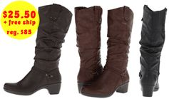 6pm.com:  Easy Street Joya Boots (3 colors!) = $25.50 + FREE Shipping! Regularly $85!