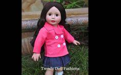 Designer 18 inch Dolls. Size of American Girl