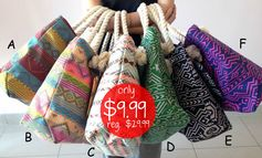 Jane.com:  Extra Large Aztec Print Totes (w/ extra pouch!) = $9.99! Regularly $29.99!
