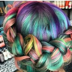 "It�s basically super bold color, mixed with ombre hues. | WTF Is ""Sand Art Hair"" And Why You'll Want It"