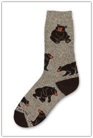 Bear Poses Marbled Grey Socks
