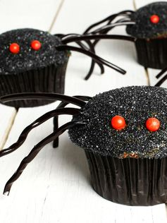Brrrr ! Effrayants ces muffins araignées au chocolat  !