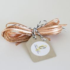 peach sparkle satin ribbon