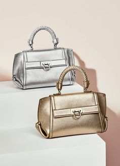 To accompany you on the last night of 2016 and throughout the new year, the new Soft Sofia bag, crafted in metallic leather and featuring a braided top-handle. http://bit.ly/2iHjB5J