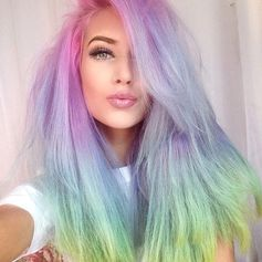 Rainbow Hair...use colors that mean something to you as another way to express who you are and how you feel about your life. Find the meaning of colors at http://www.chic-and-unique-gift-ideas.com/spiritual-meaning-of-colors.html