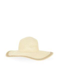 Lurex Braid Floppy Hat   Gold   Accessorize