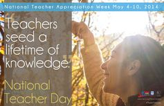 Download posters and web art for National Teacher Day on May 6th, 2014.
