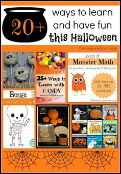 Halloween Learning Activities for School Aged Kids (and the After School Linky!) - The Measured Mom