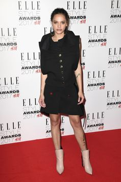 Sasha Lane wearing Louis Vuitton Spring Summer 2017 collection by Nicolas Ghesquière to the Elle Style Awards in London where she won the Breakthrough Actress award.