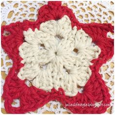 Julie's Lifestyle: Crochet Star Ornament with Pattern