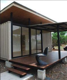 vivre dans une maison conteneur. Black Bedroom Furniture Sets. Home Design Ideas