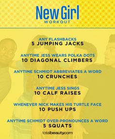 """TV-Inspired Workouts """"New Girl"""""""
