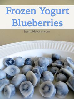 Frozen Yogurt Blueberry Recipe - The perfect snacks for kids and adults! Easy to do, sweet tasting, and healthy - Heart of Deborah #recipes #healthy