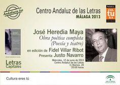 José Heredia Maya, poeta y profesor en la Universidad de Granada. En ambas facetas, gitano.